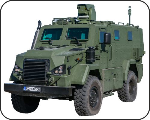 Armoured vehicles and trailers